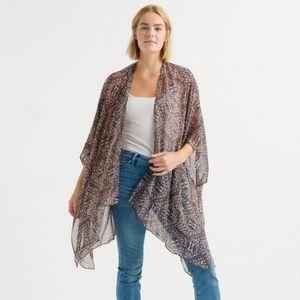 Lucky Brand Bohemian Gypsy Draped Cocoon Kimono